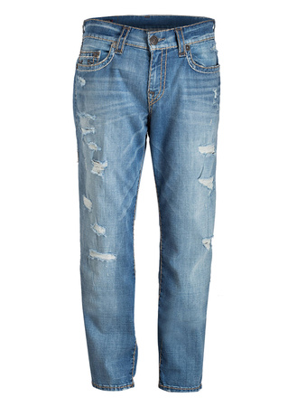 True Religion  Destroyed-Jeans GENO SUPER-T Relaxed Slim-Fit grau