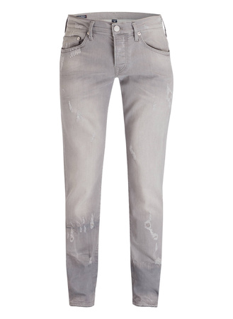 True Religion  Destroyed-Jeans NEW ROCCO Relaxed Skinny-Fit grau