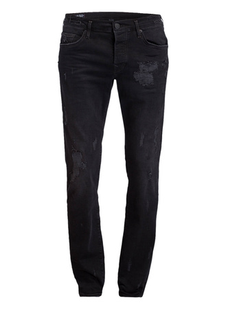 True Religion  Destroyed-Jeans NEW ROCCO Skinny-Fit schwarz