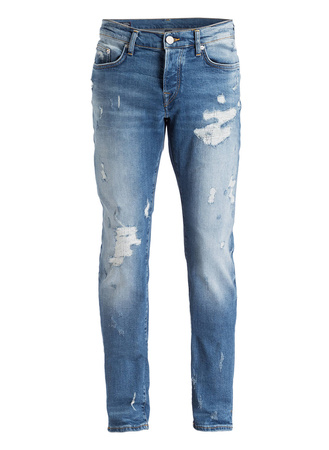 True Religion  Destroyed-Jeans ROCCO Relaxed Skinny-Fit grau