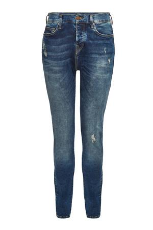 True Religion  Distressed Straight Leg Jeans Rocco Trueflex grau