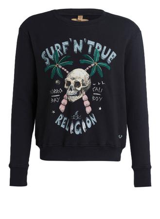 True Religion  Sweatshirt SURF SKULL schwarz