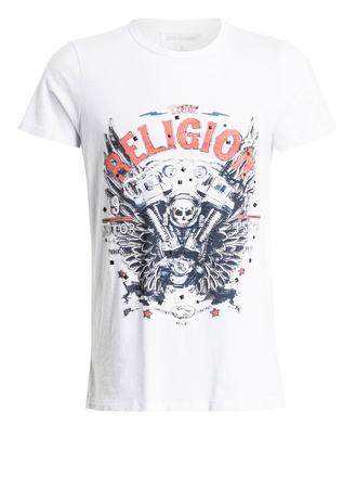 True Religion  T-Shirt MOTORBLOCK weiss