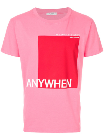 Valentino  Anywhen printed T-shirt - Rosa & Lila