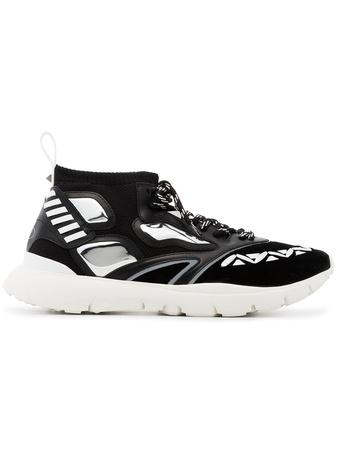 Valentino  Black heroes reflex sneakers - Schwarz
