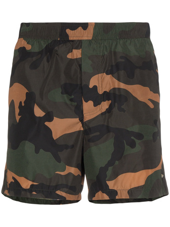 Valentino  Camouflage Swim Shorts - Grün