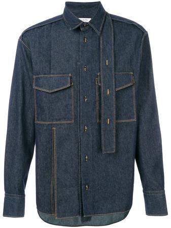Valentino  Hemd mit Brusttaschen - Blau
