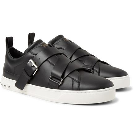 Valentino V-punk Leather Sneakers - Schwarz grau
