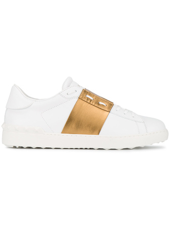 Valentino  White Gold Open sneakers - Weiß