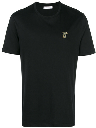 Versace Collection  chest logo T-shirt - Schwarz