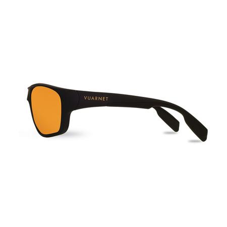 Vuarnet  Verspiegelte Sonnenbrille RACING Nylon schwarz