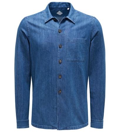 Xacus Jeans-Overshirt 'Heritage Limited Edition' graublau blau