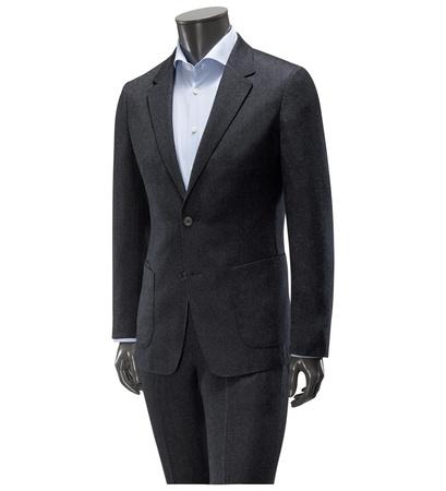 Z Zegna Anzug 'Techmerino Wash & Go' dunkelgrau schwarz