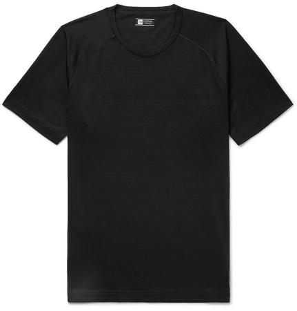 Z Zegna Techmerino™ Wool T-shirt - Black schwarz