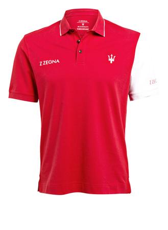 Z Zegna ZZegna Piqué-Poloshirt rot